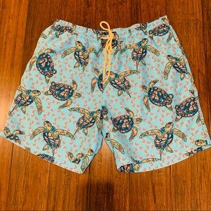 Club Room Swim Trunks Turtle Print Size Large